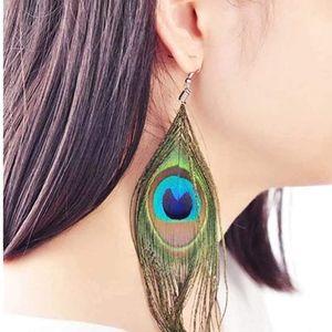 2/$30 PEACOCK FEATHER Drop & Dangle Earrings